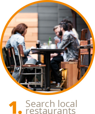 Search local restaurants